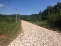 Отсыпка внутрипоселковых дорог Парус-2