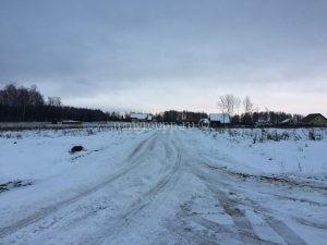 Поселок Волна, уборка снега