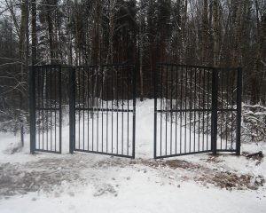 Забор на территории ДНП Волна в Можайском районе