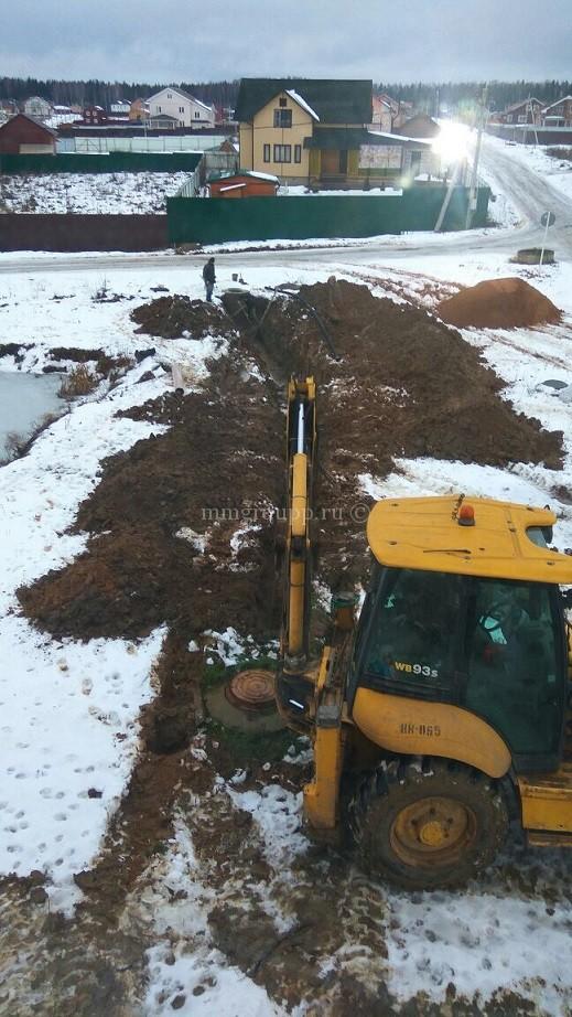 Подключение к центральной системе канализации на Большом поле